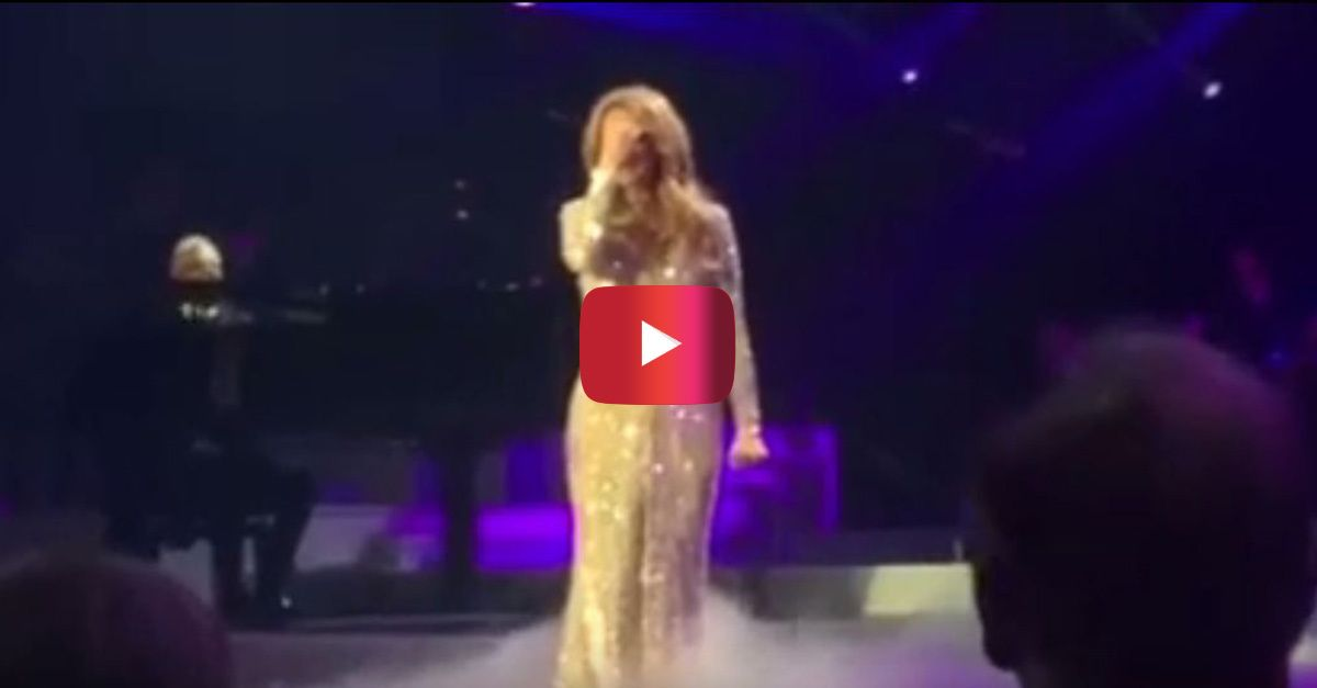 "Céline couldn't hold back tears while she performed ""All By Myself"" during last night's return to Vegas"