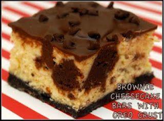 Insane Brownie Cheesecake Bars With Oreo Crust Cheesecake Bars