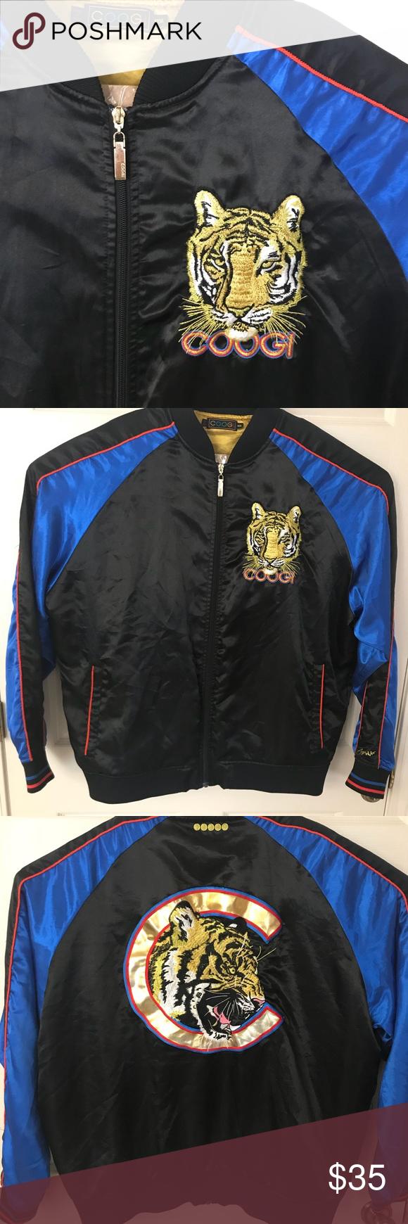c9b8bd114 Black Coogi Lion Bomber Jacket Black bomber jacket with lion ...