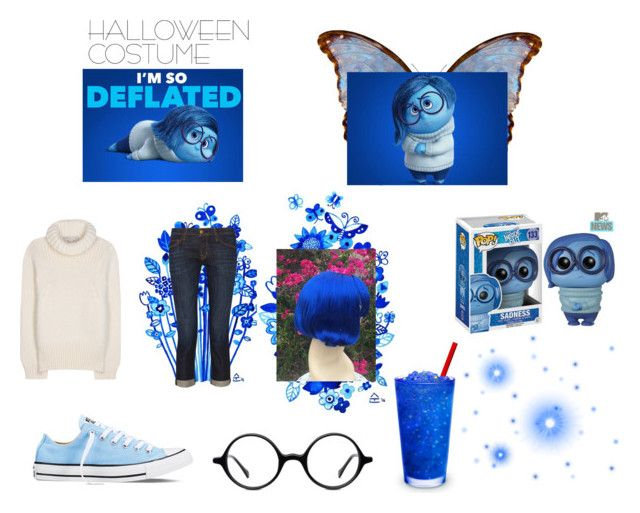 """""""Sadness Costume"""" by megmarg on Polyvore featuring STELLA McCARTNEY, Current/Elliott, Converse and Muse"""