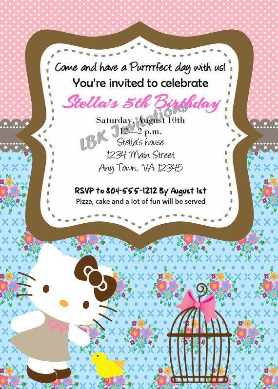 Personalized hello kitty birthday invitations party ideas for kids personalized hello kitty birthday invitations filmwisefo