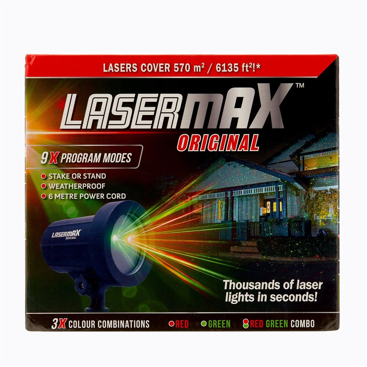 Christmas Lasermax Original Laser Light Multi Big W Laser Lights Weatherproofing Outdoor Christmas Lights