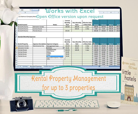 Rental Property Management Template- Long Term Rentals, Rental
