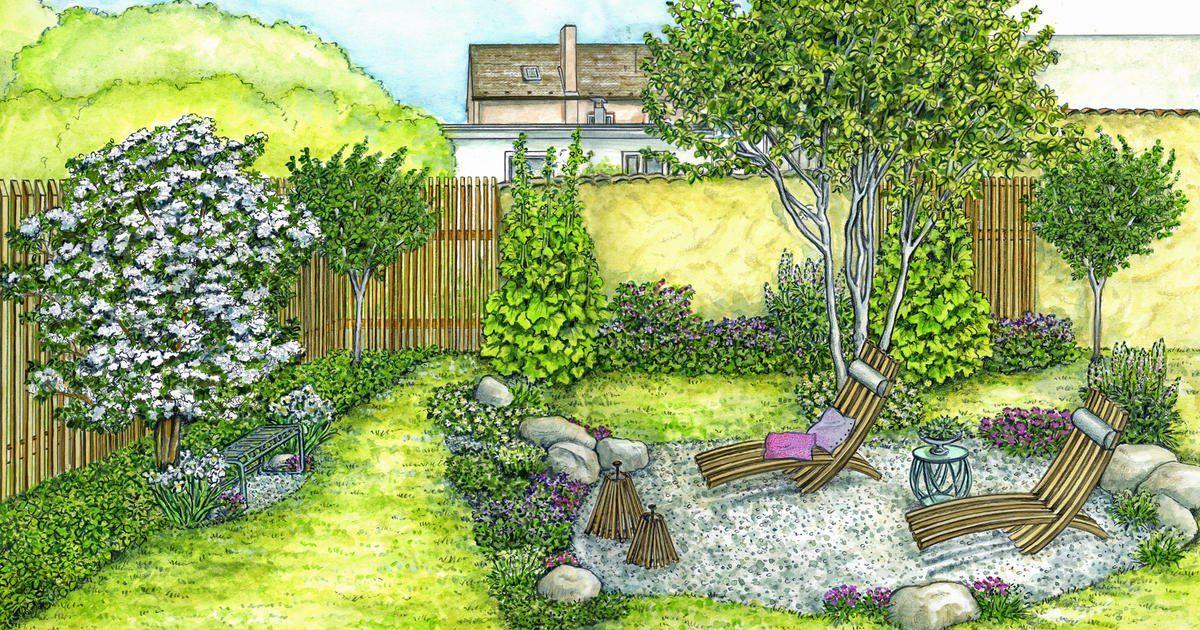 1 Garten 2 Ideen Gestaltungsideen Fur Einen Tristen Gartenbereich Garten Gestalten Garten Gestalten Ideen Gartengestaltung