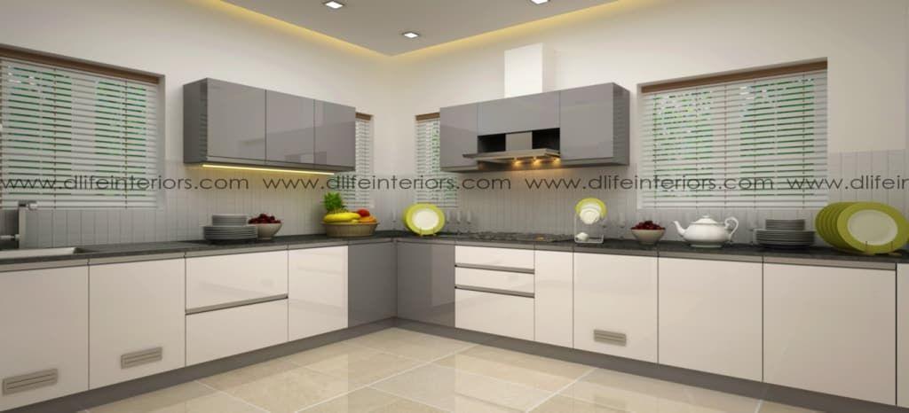Best Cerulean L Shape Kitchen By Dlife Home Interiors L 640 x 480
