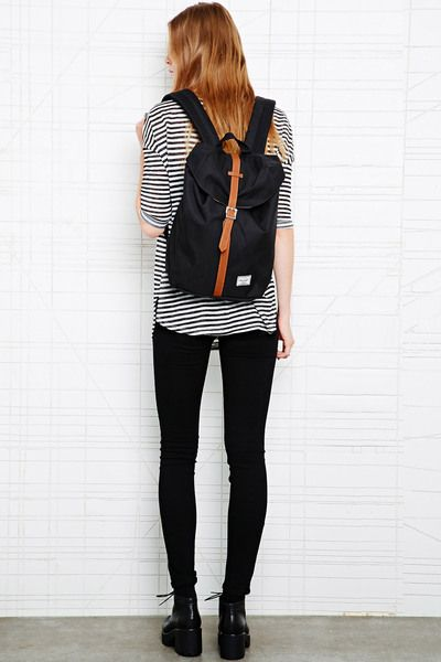 5dbe0674668 Herschel Supply Co. Herschel Black Post  Backpack in Black - Lyst ...