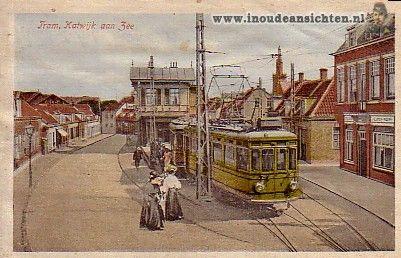 katwijk aan zee, tram gekleurd