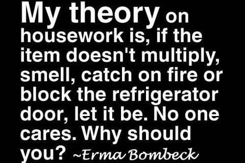 Erma Bombeck Housework Quotes Housework Funny Quotes