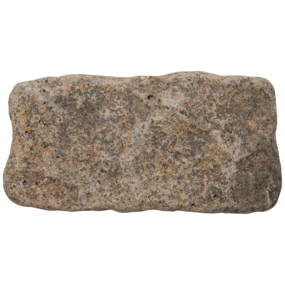 Msi 8 In X 4 In Dutch Block Black Granite Cobbles 0 22 Sq Ft