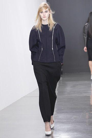 Blouse shape I love, plus zippers.  #Celine #Paris #FashionWeek