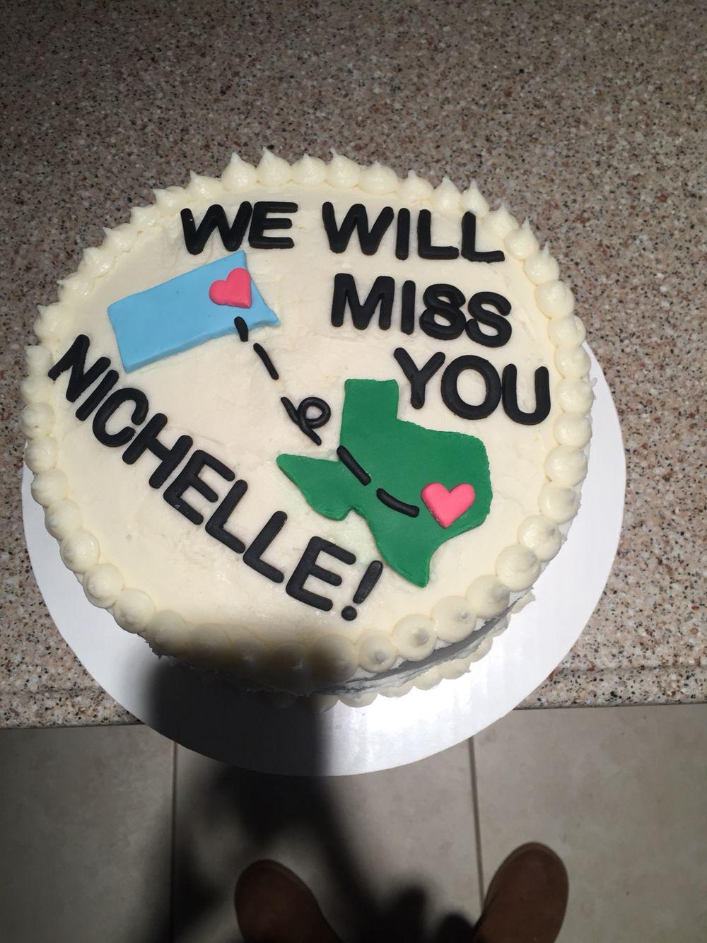 Going Away Cake Going Away Cakes Farewell Cake Cake