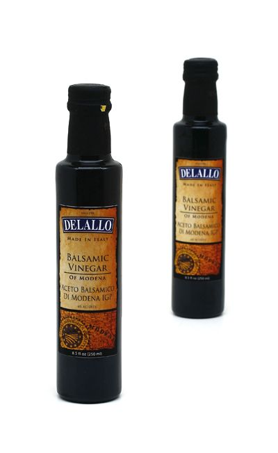 DeLallo Balsamic Vinegar of Modena—Rich, sweet and remarkably smooth, balsamic vinegar has many tricks up its sleeve. From salads and grilled meats to creamy sweets like gelato—there's no stopping this beloved Italian vinegar! #balsamicvinegar #vinaigrettechampion