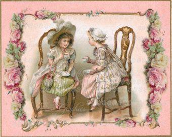 Ladies Tea Party Clip Art | Large digital download ...