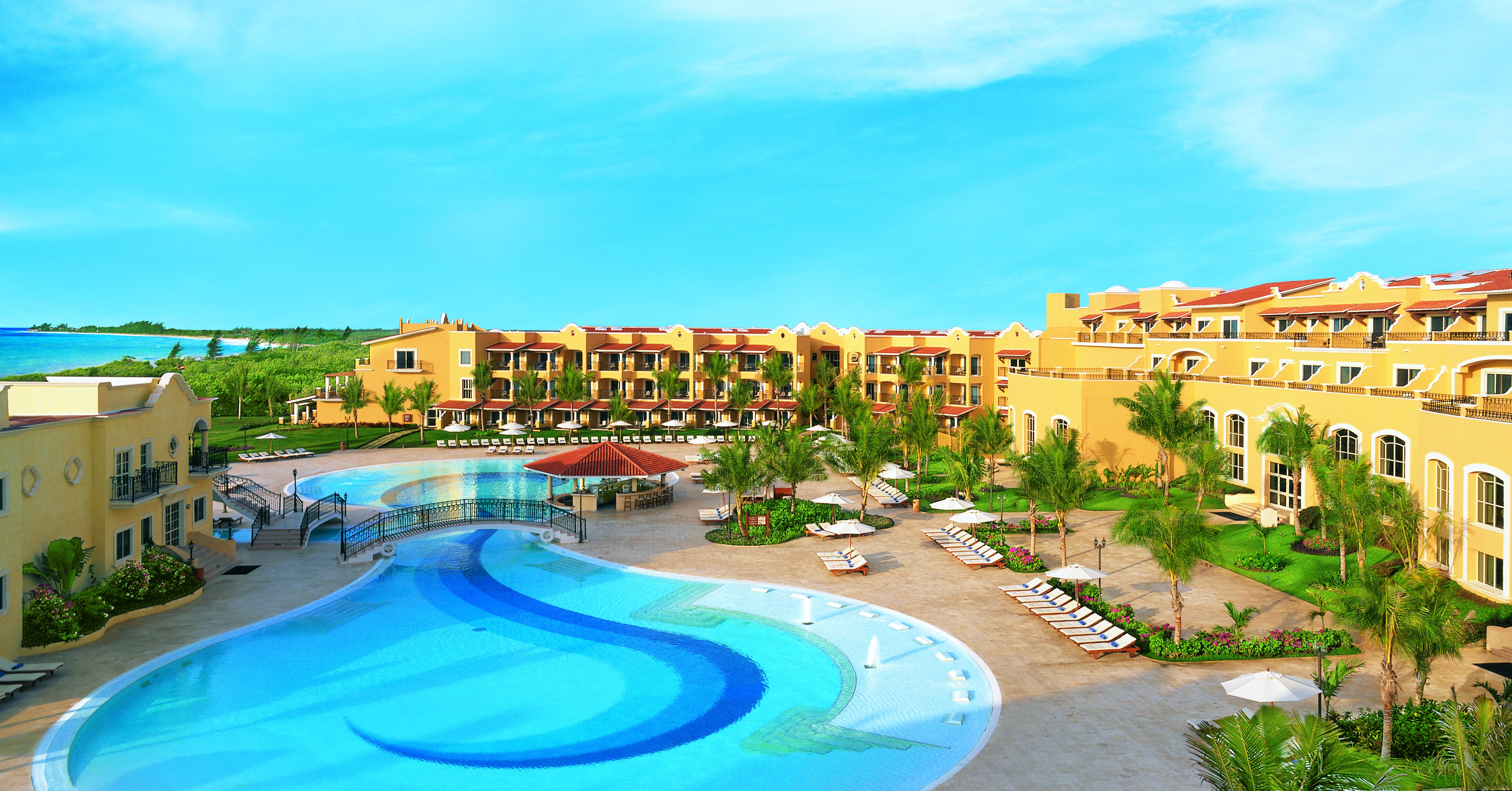 196e0363a80c Swimming pool at Secrets Capri Riviera Cancun in Riviera Maya Mexico ...