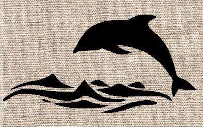 Animal Stencil Airbrush Dolphin stencil Card making Craft Stencil