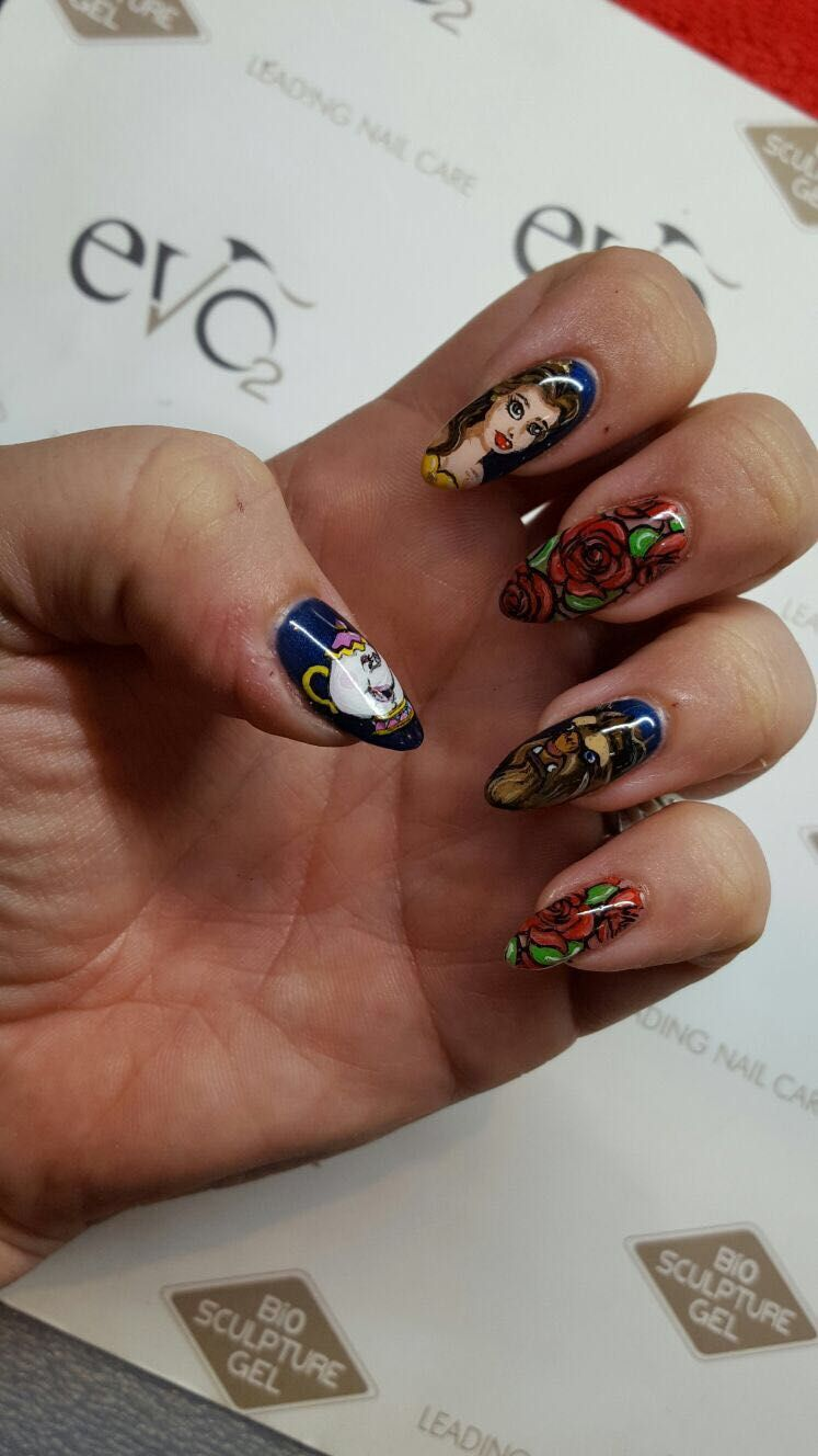 Beauty and the Beast Nails Beauty and the beast nails