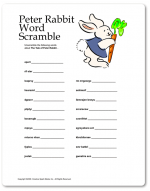 Does adult easter word games