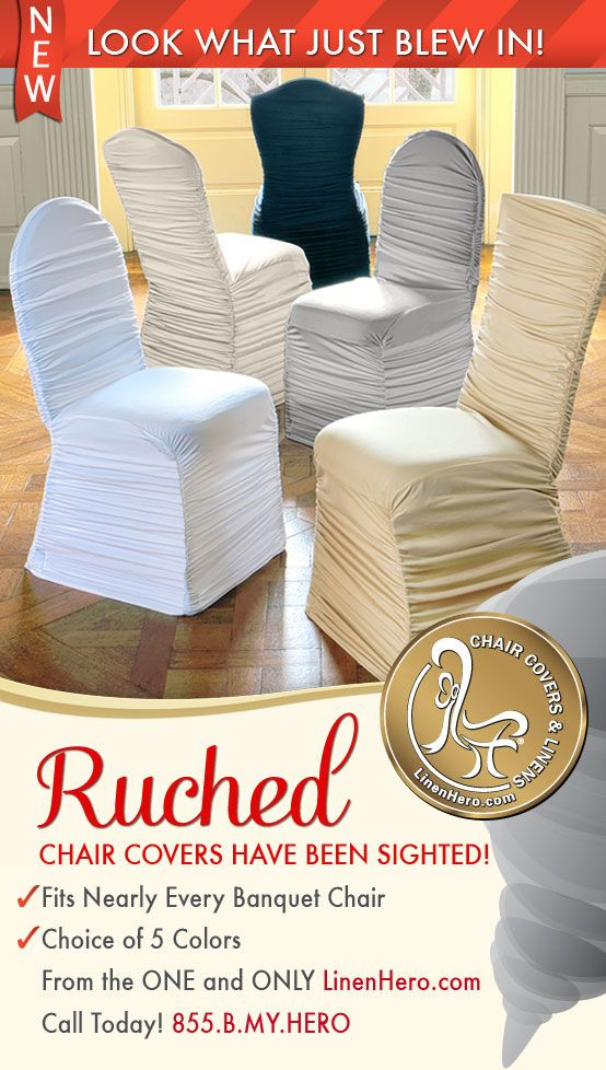 disposable folding chair covers bulk white lounge cushions new ruched for any event from linenhero com fits nearly every banquet choice of 5 colors call today 855 b my hero