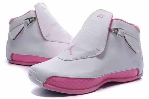 reputable site 81ba0 d4b77 Nike Jordan 18 Femmes White Pink