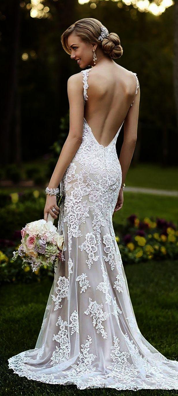 Trendy ueue lace sweetheart wedding dress long sleeve excellent