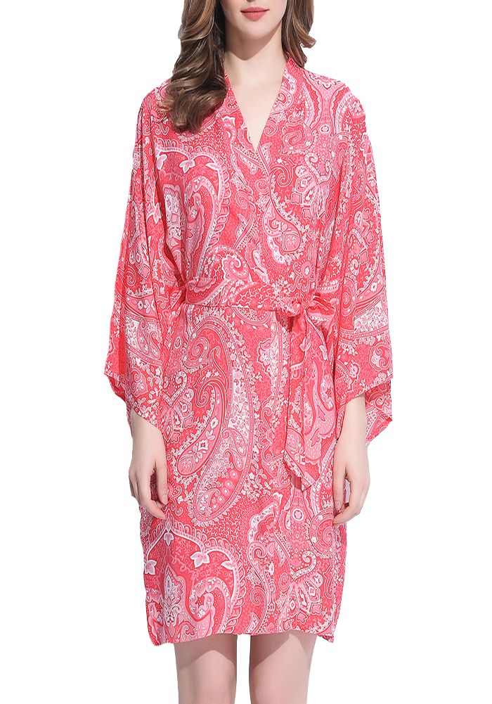 Paisley in Coral