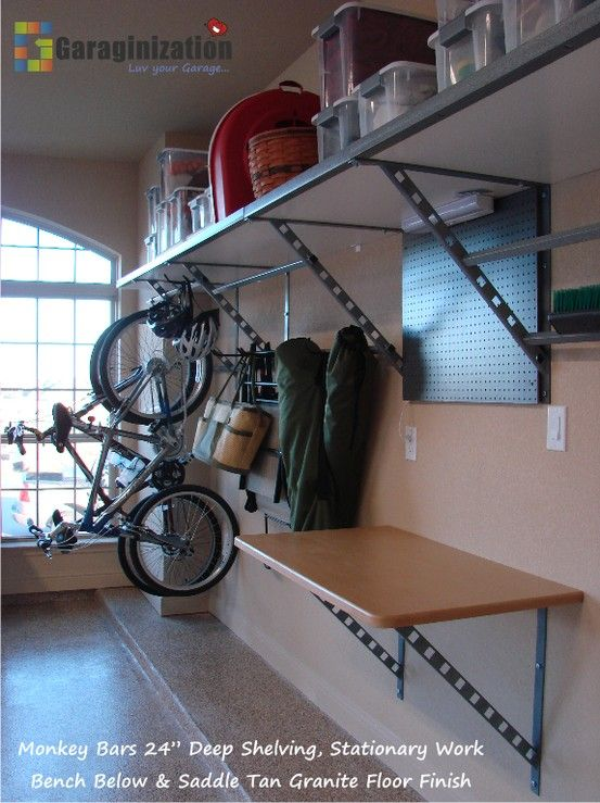 Sleek And Functional Monkey Bars Storage System
