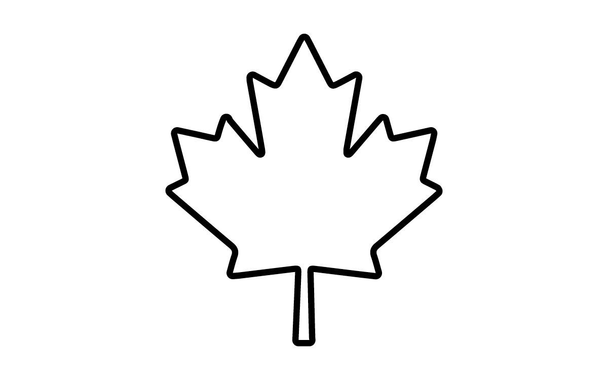 Canadian Maple Leaf Coloring Page Mewarnai Clipart Best