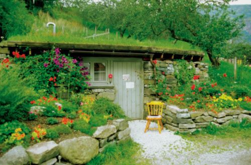 Green roof, green home - earth berm