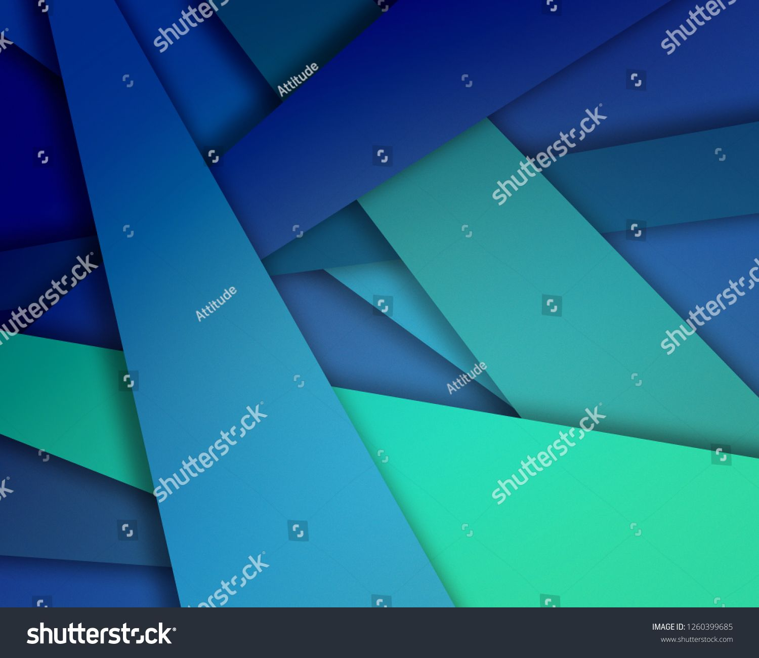 Abstract Blue And Green Background Design With Random Layered