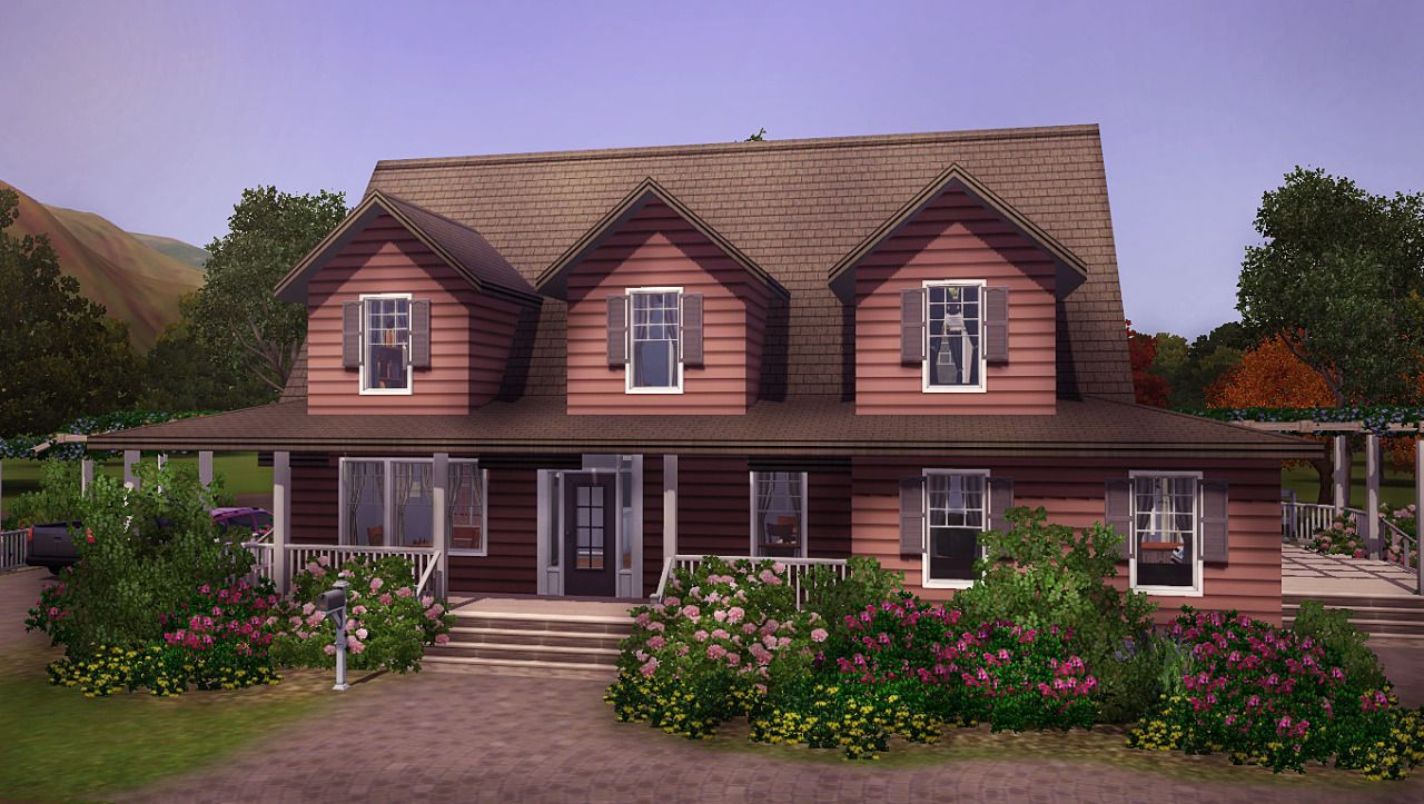 Machines When Left Alone A Requested Selma 3br 2ba Country House Lot Sims House Sims House Design Sims