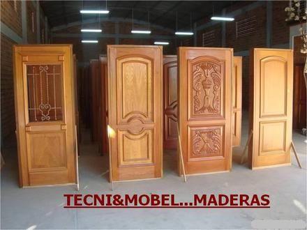 Fotos de puertas en madera cedro interiores y principales for Fotos de puertas principales de madera modernas