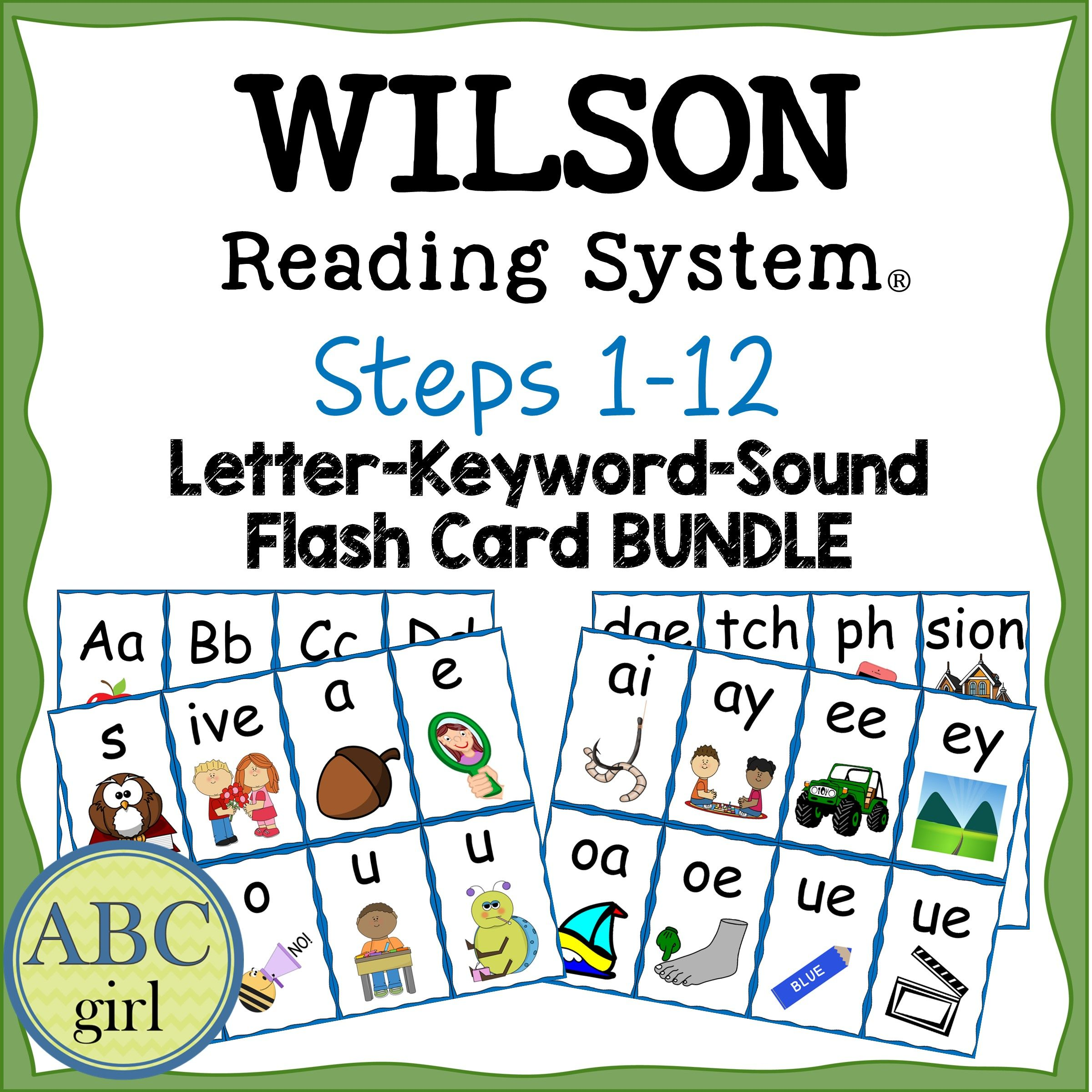 Worksheets Flash Card For Reading wilson reading system steps 1 12 letter keyword sound flash card aligned and flashcards reading