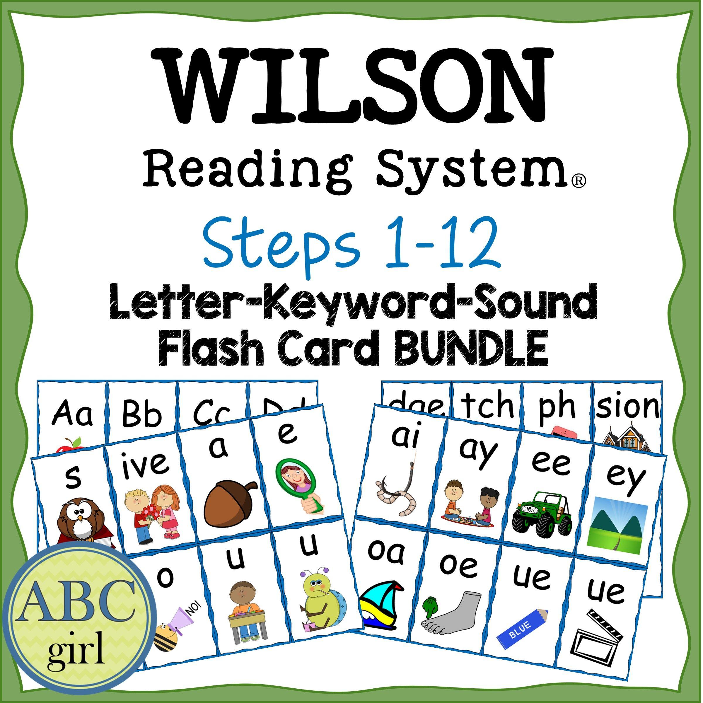 Reading System Steps 1 12 Letter Keyword Sound Flash Card