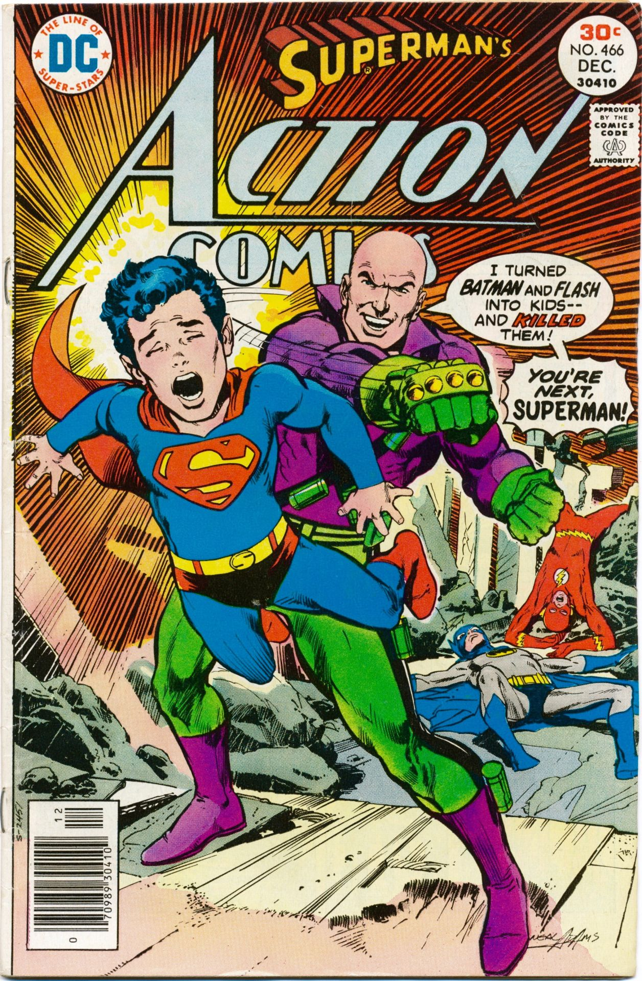 So glad to learn that one of my all-time favorite covers is also a fave of artist Neal Adams. Interview from 13thdimension.com: Switching to Superman, actually Action Comics #466. If you look at this cover, you could believe that unconsciously, Neal...