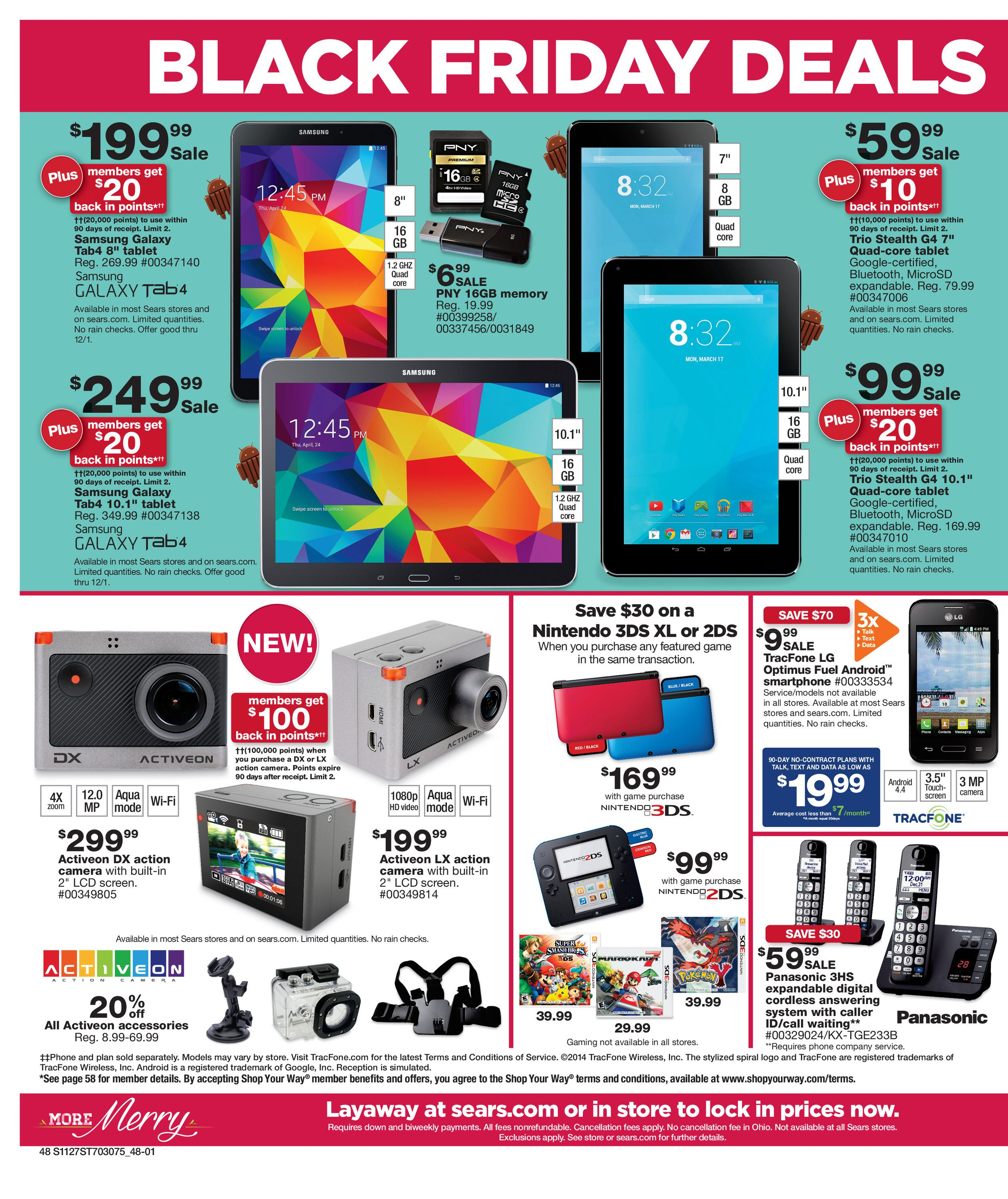 Sears Black Friday 2014 Ad Page 48 Black Friday Samsung Tablet Black