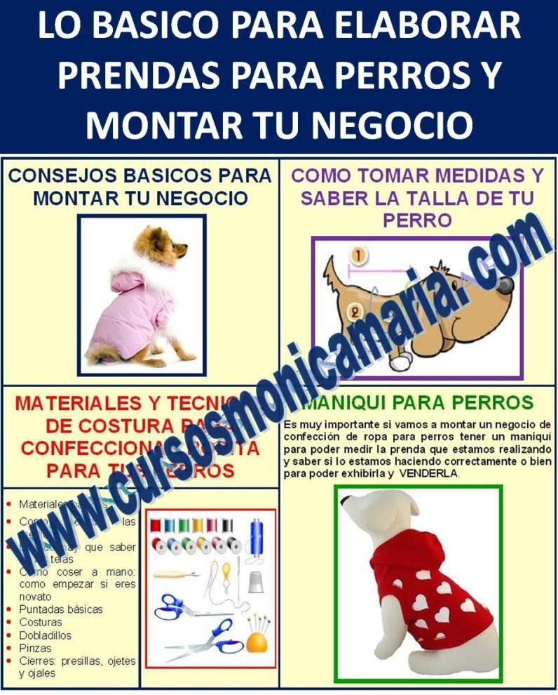 Curso corte confeccion ropa perros montar negocio maniqui - Maniqui de perro ...