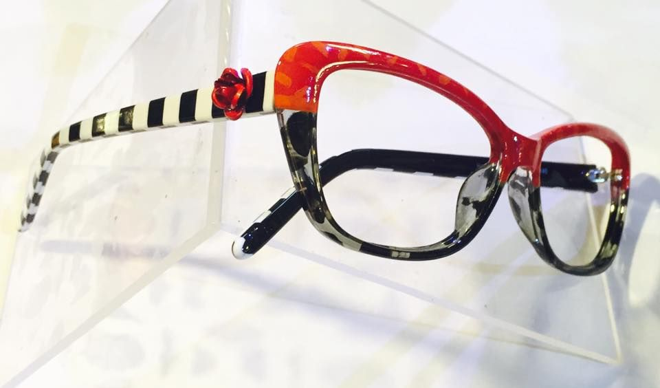 615fe1a42924 These handpainted J143 colorful frames by Artist Roni Dori -Ronex Eyewear.