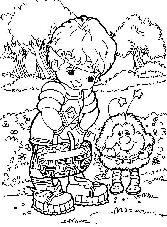 Rainbow Brite Coloring Sheets Rainbow Brite Character Coloring
