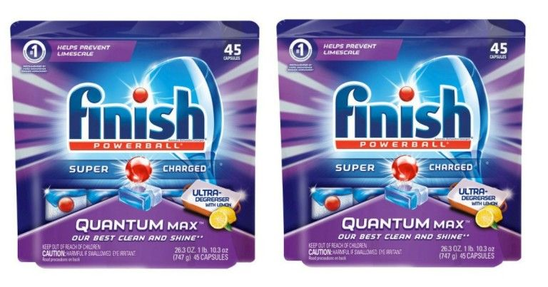 Finish Quantum Dishwasher Detergent, 45 ct Only $5.79 (Value $10.79) at Target! - http://wp.me/p56Eop-PwE