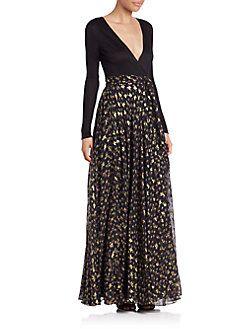 Diane von Furstenberg - Aviva Wrap Maxi Dress