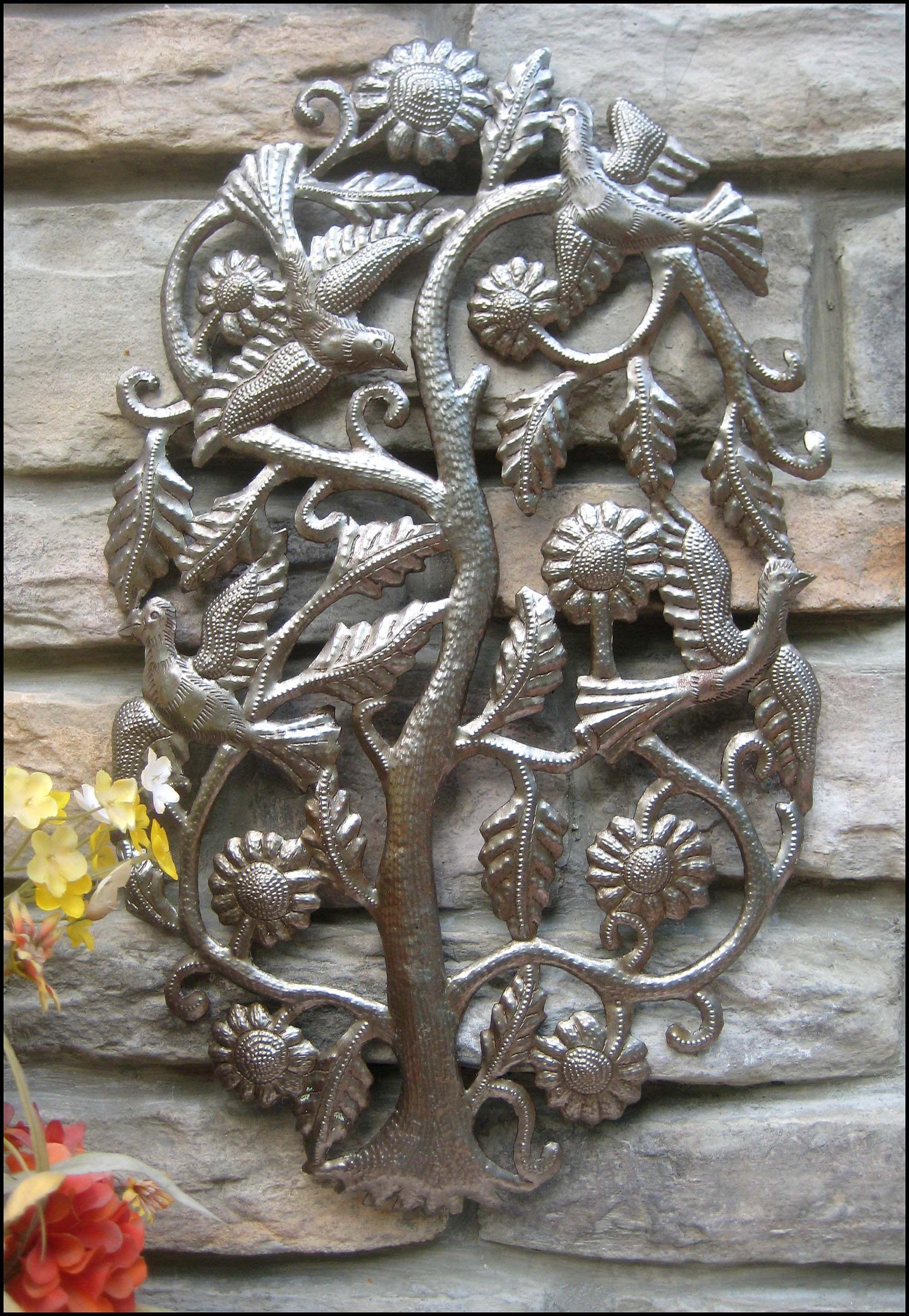 Metal Wall Art Birds And Tree Metal Wall Decor Tropical Art