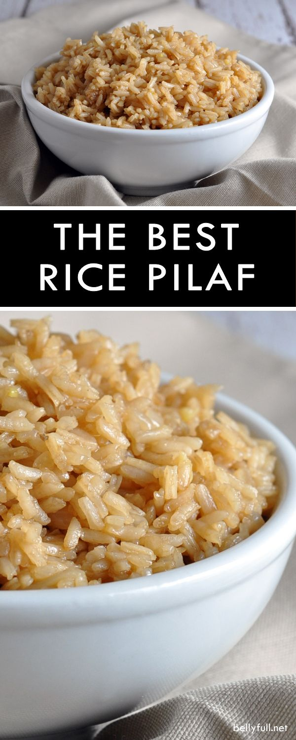 The Best Rice Pilaf Recipe - Belly Full