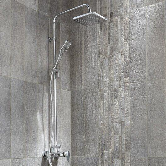 Colonne de douche et bain avec robinetterie sensea remix Marque de robinetterie salle de bain