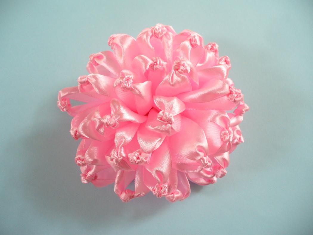 Diy Ribbon Flower Brooch Make It In 10 Minutes Diy Ribbon