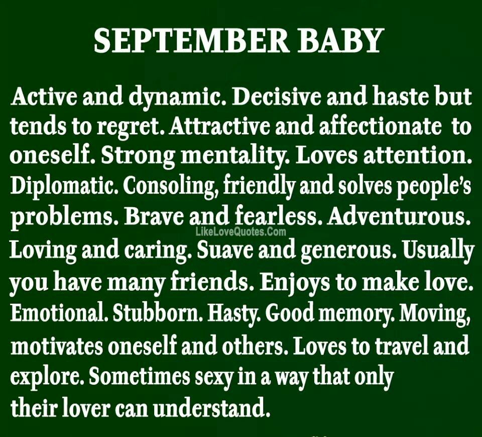 September baby September baby, Birth sign, Birth month