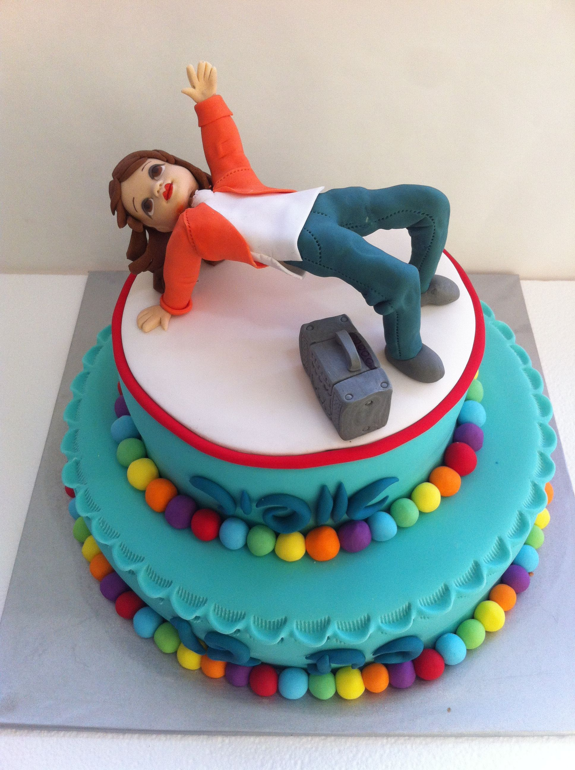 Hip Hop Dancer Cake My Cakes Pinterest Cake Dance Cakes And