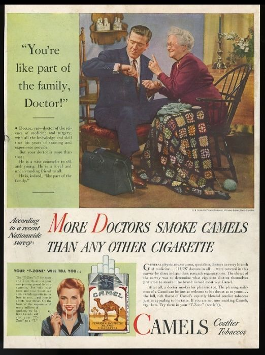 1946 Doctor Photo More Doctors Smoke Camel Cigarette Vintage Print Ad