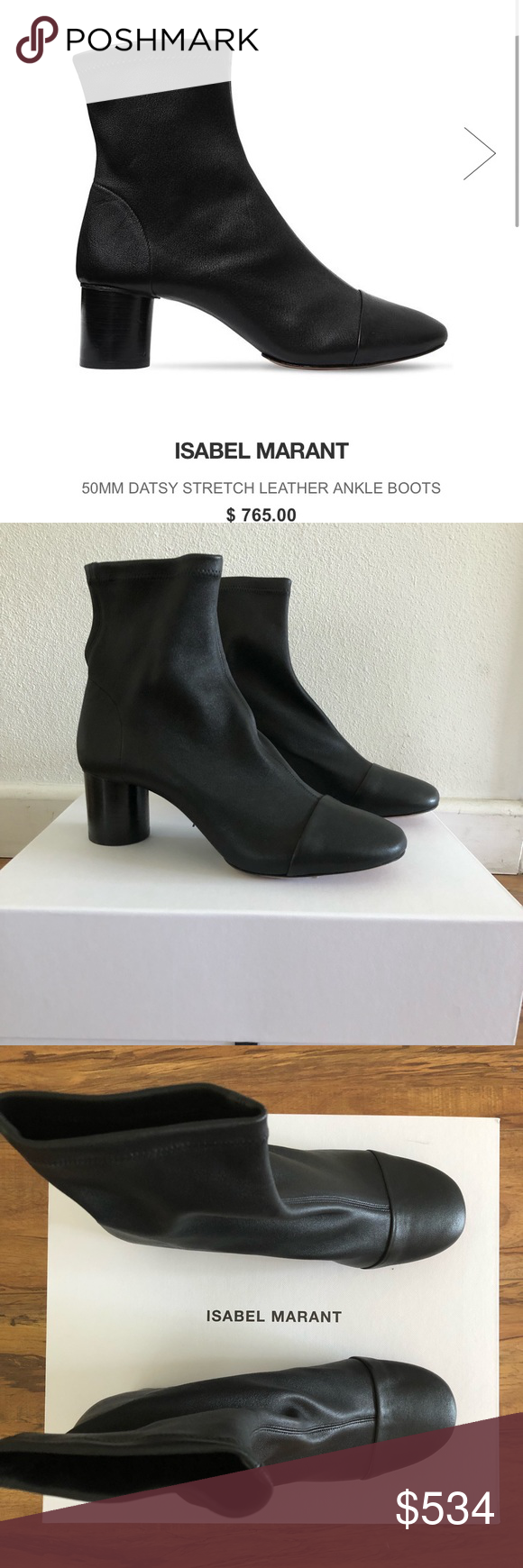 48fd20a74c8 NEW Isabel Marant Datsy Leather Boots Booties Brand New with Box!! Just  received from