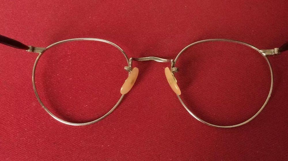 Metal Plastic Spectacle Frames Algha Silver UNISEX 1960 1970 Curl Sides Vintage