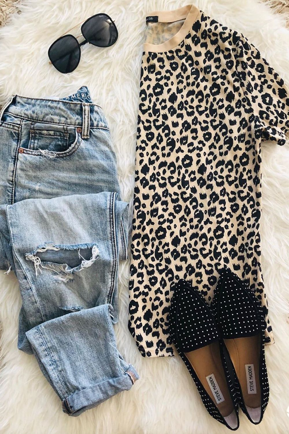 Leopard Print T Shirt Styling Tips Outfits Inspiration Women Fashion Street Wear Summer Casual Look